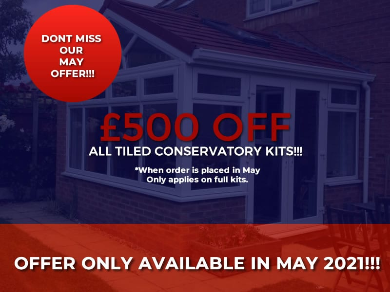 tiled conservatories may 2021 mobile offer banner